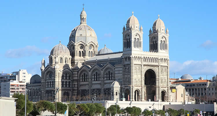 The beautiful Basilica building at Marseille